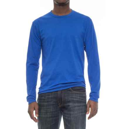 Specially made Crew Neck T-Shirt - Long Sleeve (For Men) in Royal - 2nds