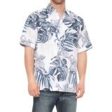 Specially made Cuffed Tropical Print Shirt - Short Sleeve (For Men)
