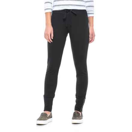 Specially made Drawstring Waist Knit Stretch Pants (For Women) in Black - 2nds