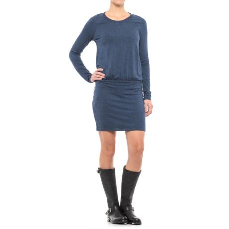 Specially made Drop-Waist Dress - Long Sleeve (For Women) in Dark Blue