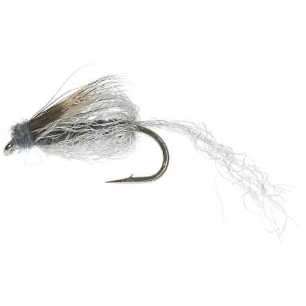 Specially made Emergent Sparkle Pupa Emerger Fly - Dozen in Grey - Closeouts