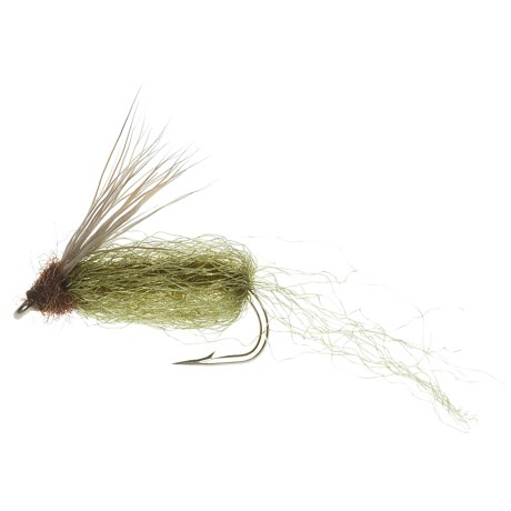 Specially made Emergent Sparkle Pupa Emerger Fly - Dozen in Olive