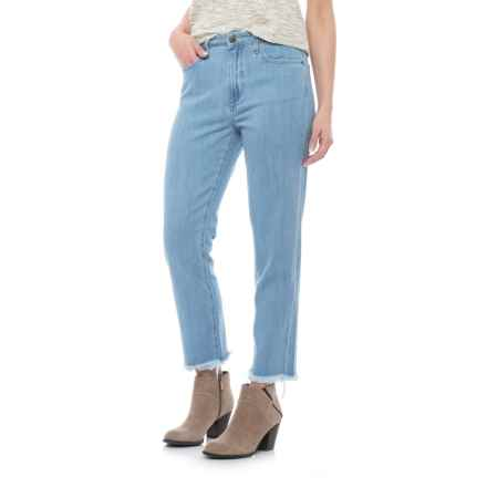 Specially made Five-Pocket Cutoff Jeans - High Rise (For Women) in Light Blue - Closeouts