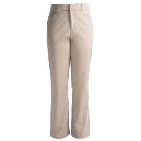 Specially made Flat Front Cotton Stretch Pants (For Women)