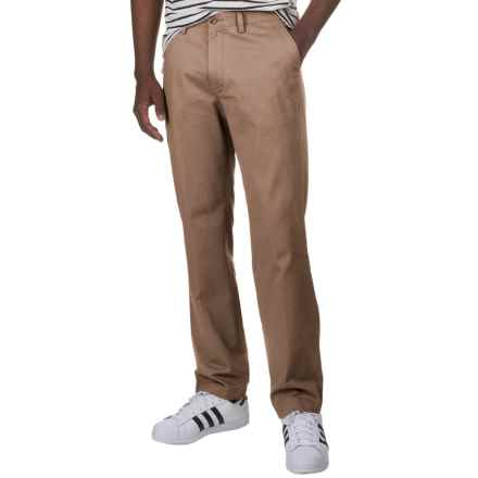 Specially made Flat-Front Cotton Twill Pants (For Men) in Tan - 2nds