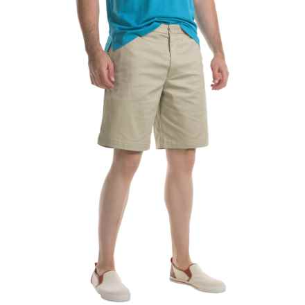 Specially made Flat-Front Twill Shorts (For Men) in Khaki - 2nds