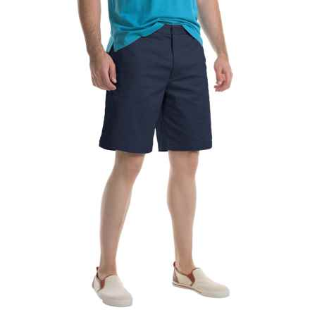 Specially made Flat-Front Twill Shorts (For Men) in Navy - 2nds