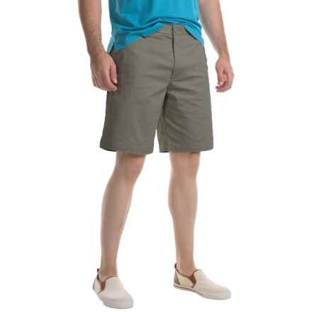 Specially made Flat-Front Twill Shorts (For Men) in Sage - 2nds