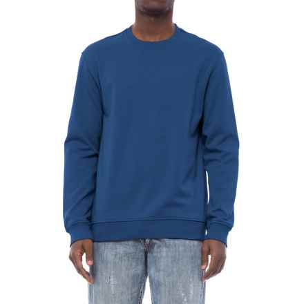 Specially made Fleece-Lined Sweatshirt (For Men) in Dark Blue Heather - 2nds