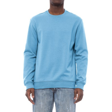 Specially made Fleece-Lined Sweatshirt (For Men) in Powder Blue Heather