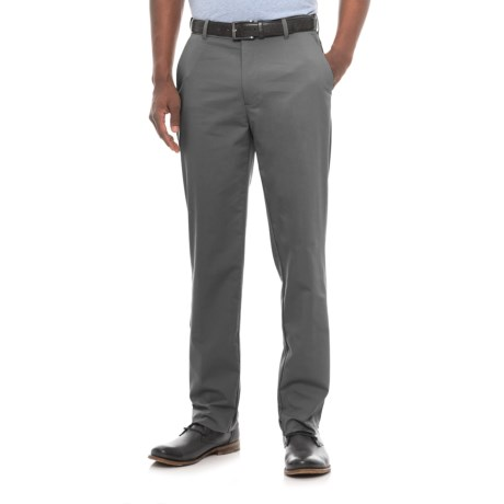 Specially made Four-Pocket Solid Stretch-Woven Pants (For Men) in Grey