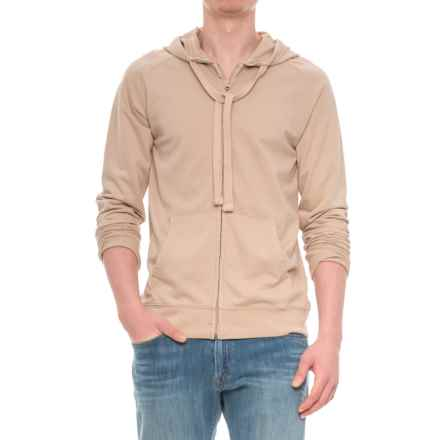 Specially made French Terry Full-Zip Hoodie (For Men) in Tan - Closeouts