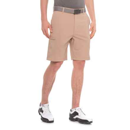 Specially made Golf Shorts - Zip Cargo Pockets (For Men) in Hudson Tan - 2nds