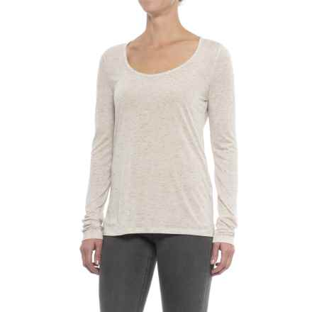 Specially made Heathered and Flecked Rayon Shirt - Long Sleeve (For Women) in Oatmeal - 2nds