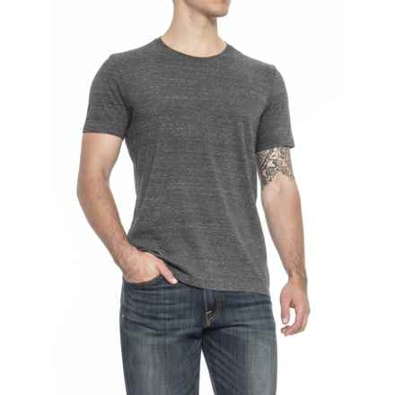 Specially made Heathered Crew Neck T-Shirt - Short Sleeve (For Men) in Charcoal - 2nds