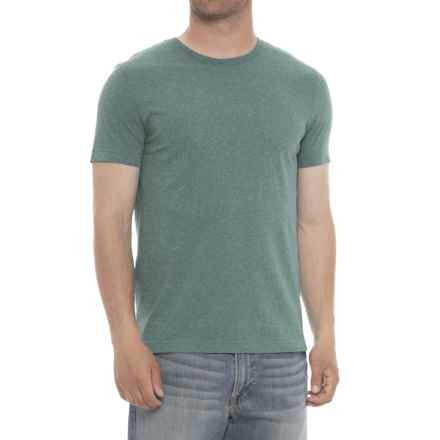 Specially made Heathered Crew Neck T-Shirt - Short Sleeve (For Men) in Green - 2nds