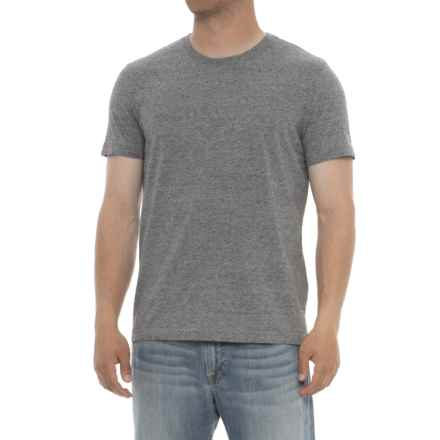 Specially made Heathered Crew Neck T-Shirt - Short Sleeve (For Men) in Grey/Black - 2nds