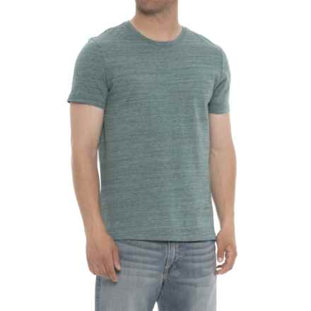 Specially made Heathered Crew Neck T-Shirt - Short Sleeve (For Men) in Light Green - 2nds