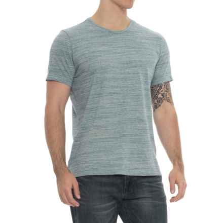 Specially made Heathered Crew Neck T-Shirt - Short Sleeve (For Men) in Mint - 2nds
