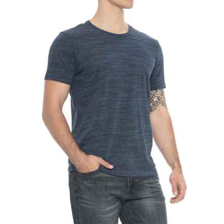 Specially made Heathered Crew Neck T-Shirt - Short Sleeve (For Men) in Navy - 2nds