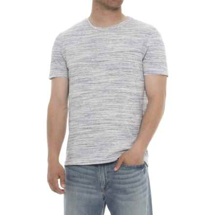 Specially made Heathered Crew Neck T-Shirt - Short Sleeve (For Men) in Purple/White - 2nds