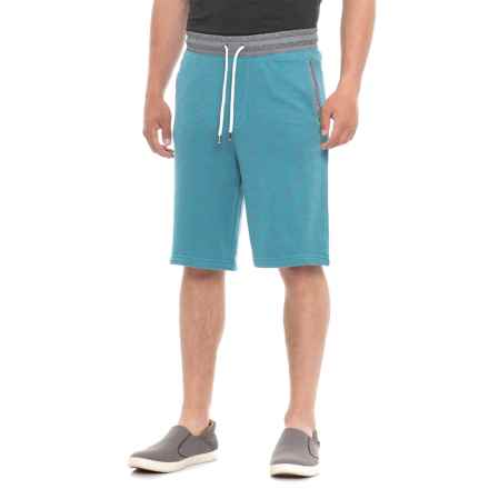 Specially made Heathered French Terry Shorts (For Men) in Blue Grey Heather - Closeouts