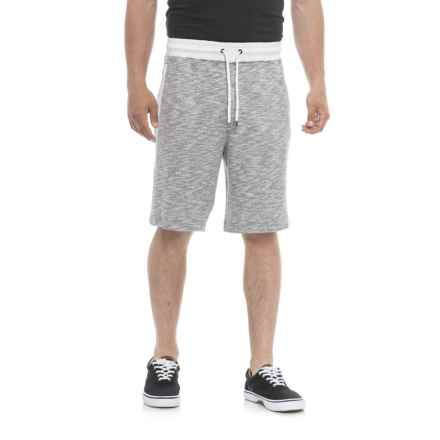 Specially made Heathered French Terry Shorts (For Men) in Grey White Heather - Closeouts