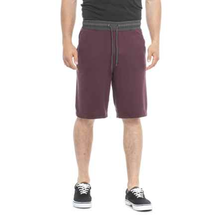Specially made Heathered French Terry Shorts (For Men) in Plum Charcoal Heather - Closeouts