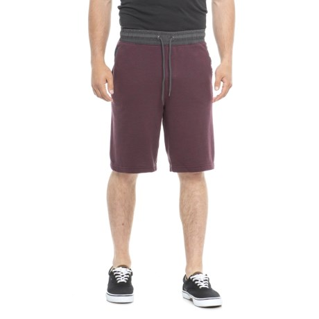 Specially made Heathered French Terry Shorts (For Men) in Plum Charcoal Heather