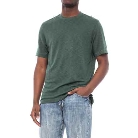Specially made Heathered Knit Crew Neck Shirt - Short Sleeve (For Men) in Green - 2nds