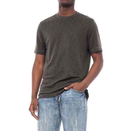 Specially made Heathered Knit Crew Neck Shirt - Short Sleeve (For Men) in Grey - 2nds