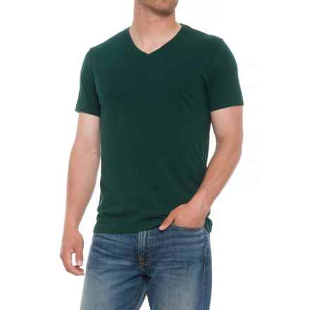 Specially made Heathered T-Shirt - V-Neck, Short Sleeve (For Men) in Forest Green - 2nds