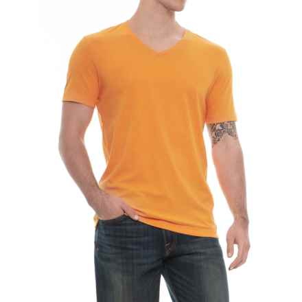 Specially made Heathered T-Shirt - V-Neck, Short Sleeve (For Men) in Gold - 2nds