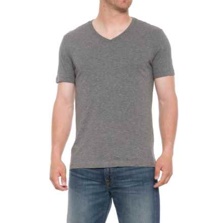 Specially made Heathered T-Shirt - V-Neck, Short Sleeve (For Men) in Grey - 2nds