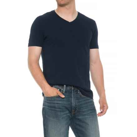 Specially made Heathered T-Shirt - V-Neck, Short Sleeve (For Men) in Indigo - 2nds
