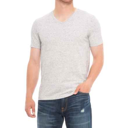Specially made Heathered T-Shirt - V-Neck, Short Sleeve (For Men) in Light Grey - 2nds