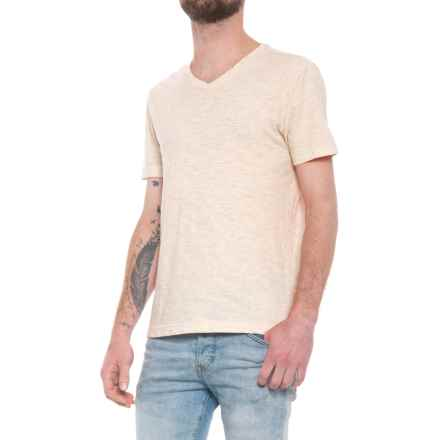 Specially made Heathered T-Shirt - V-Neck, Short Sleeve (For Men) in Oatmeal - 2nds