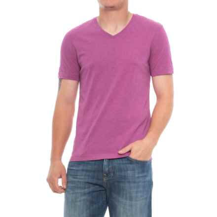 Specially made Heathered T-Shirt - V-Neck, Short Sleeve (For Men) in Purple - 2nds