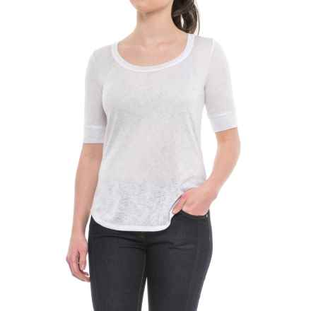 Specially made High-Low Hem Shirt - Short Sleeve (For Women) in White - 2nds