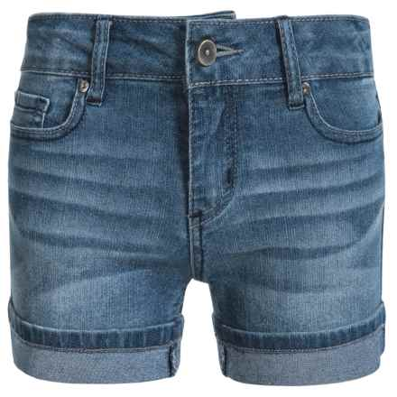 Specially made Hipster Cuffed Shorts (For Big Girls) in Canal St Wash - Closeouts
