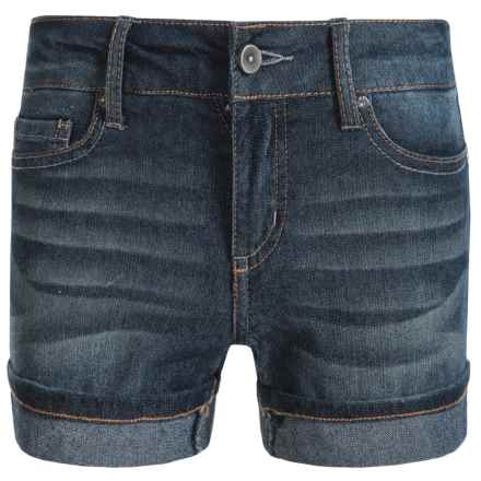 Specially made Hipster Cuffed Shorts (For Little Girls) in Dark Wash - Closeouts