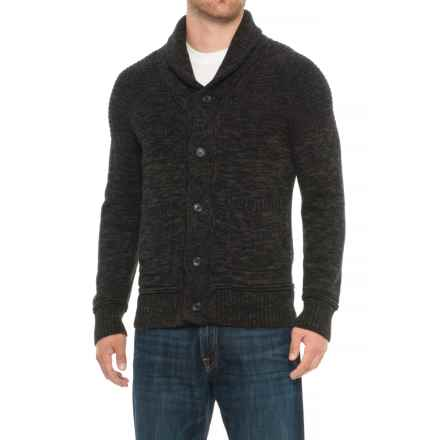 Specially made Honeycomb Cardigan Sweater - Button Front (For Men) in Charcoal/Grey - Overstock