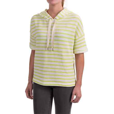 Specially made Honeycomb Hoodie Shirt - Short Sleeve (For Women) in Lime/White - 2nds