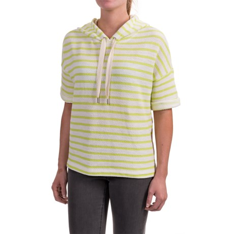 Specially made Honeycomb Hoodie Shirt - Short Sleeve (For Women) in Lime/White