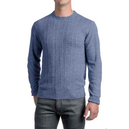 Specially made Jacquard Crew Neck Sweater - Long Sleeve (For Men) in Light Blue - 2nds