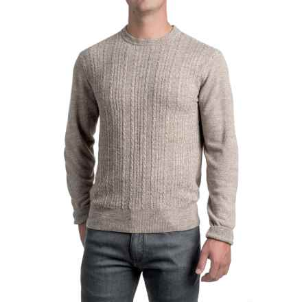 Specially made Jacquard Crew Neck Sweater - Long Sleeve (For Men) in Taupe - 2nds