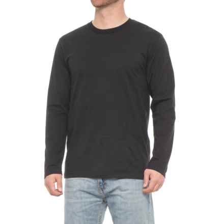 Specially made Jersey Crew T-Shirt - Long Sleeve (For Men) in Black - Closeouts