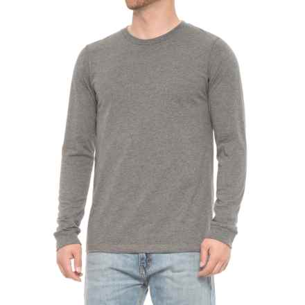 Specially made Jersey Crew T-Shirt - Long Sleeve (For Men) in Charcoal Heather - Closeouts