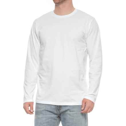 Specially made Jersey Crew T-Shirt - Long Sleeve (For Men) in White - Closeouts