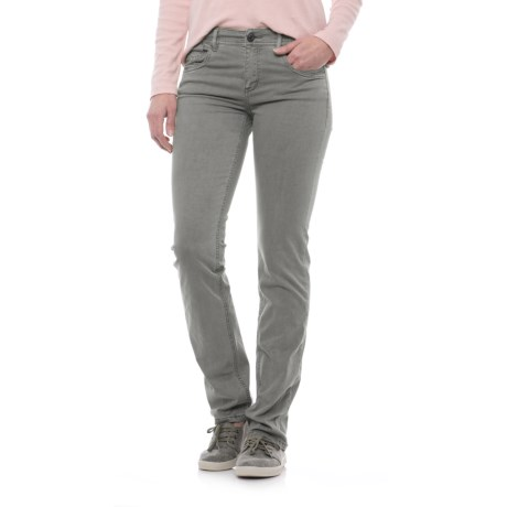 Specially made Laundered Stretch Twill Pants (For Women) in Light Grey